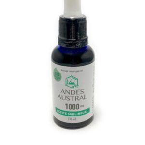 Aceite de cannabis libre de THC sublingual Andes Austral 1000mg