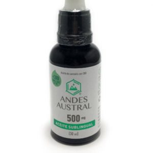Aceite de cannabis libre de THC sublingual Andes Austral 500mg