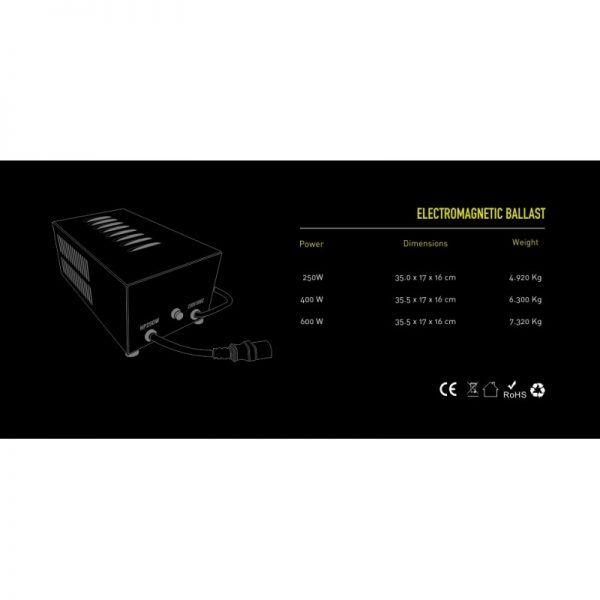 Balastro Electromagnetico Plug&Play 600W (220v)-CL Plug Garden Highpro