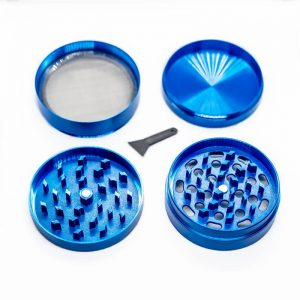 Moledor de aluminio 4 piezas azul 63 mm