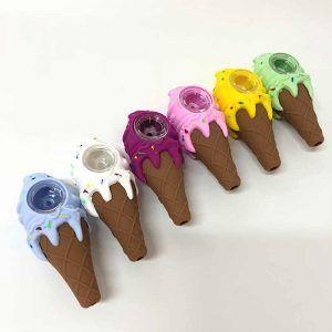 Pipa silicona helado bowl vidrio colores
